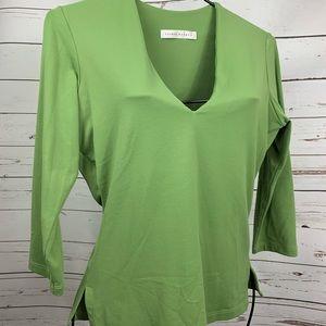 Susana Monaco vneck green top